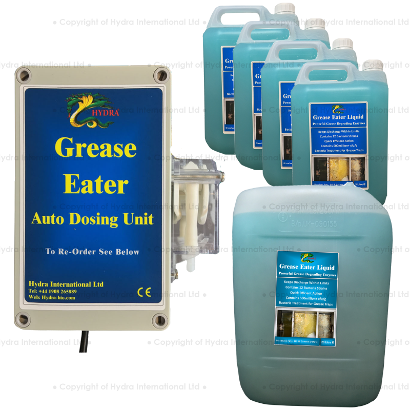 Battery Operated Auto Dosing Unit Includes Hydra Grease-Eater Liquid