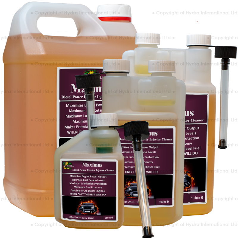 HYDRA MAXIMUS Cleaning Diesel Injectors, Diesel Turbo Cleaner, Use the Best Fuel Injector Cleaner Additive for Diesel Fuel