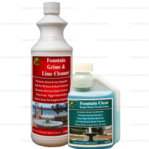 Combo Pack : Hydra Fountain Clear + Fountain Grime and Lime Foam Cleaner
